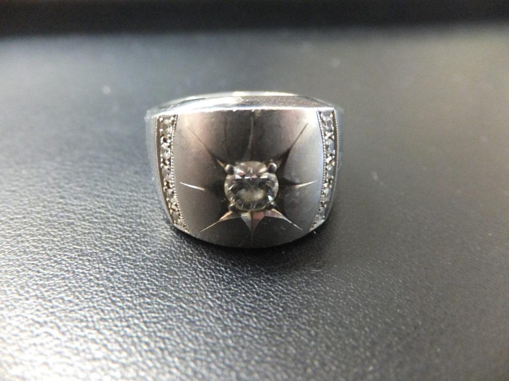 Pt900刻印 ダイヤ埋め込みリング 指輪 プラチナ900