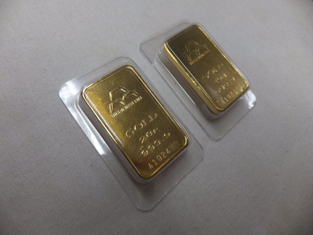 貴金属買取 日本マテリアル 純金インゴット 20g 2枚