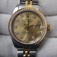 ROLEX(ロレックス)レディース腕時計デイトジャスト コンビ 10P旧ダイヤ付き Ref.69173G 高価買取