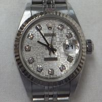 ROLEX(ロレックス)レディース腕時計デイトジャスト10P新ダイヤ付き Ref.69174G 高価買取