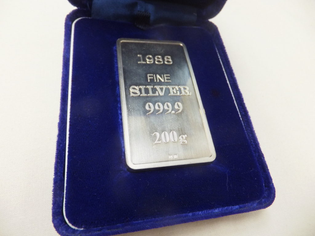1988 FINE SILVER 999.9 200g 純銀インゴット